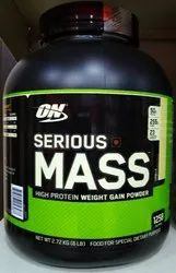 Muscle Building Optimum Nutrition Serious Mass Weight Gainer, Packaging Size: 6 Lb