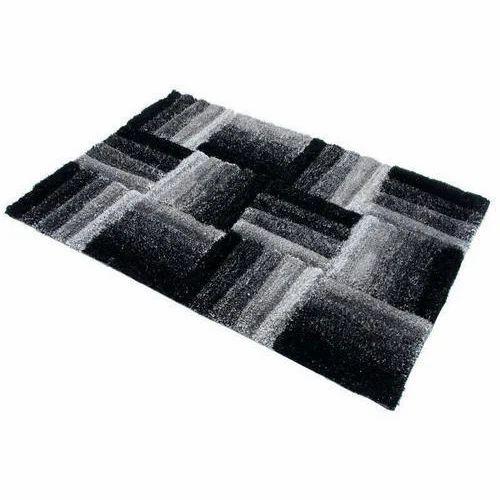 Black & White Polyester Fancy Room Carpet, Size/Dimension: 10 X 5 feet