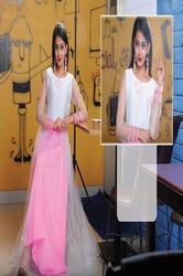 Girl Full Length Princess Gown With Chikan