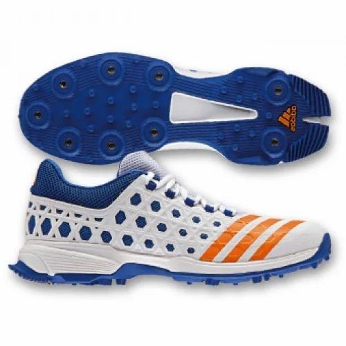 Adidas Blue And Orange Cricket Shoes