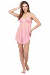 11495257706 New Blue Eyes Pink Star Babydoll Dress