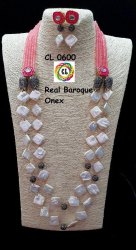 Cl Code Real Mother Of Pearl Onex Kundan Statement Fashion Jewellery Necklace