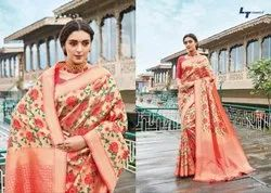 Party Wear Printed Pure Cotton Saree, Machine Made, 5.5 m (separate blouse piece)