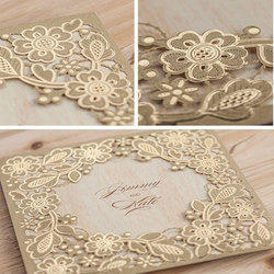 Paper Brown Decorative Baby Shower Card