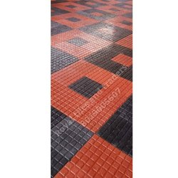 Red and Black Cement Square Parking Tile, Thickness: Upto 25mm, Size: 400x400mm, 500x500mm