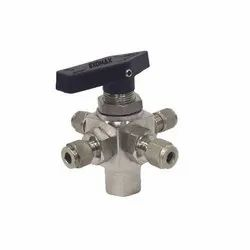 6000 Psi Stainless Steel Panel Mount Ball Valve, Size: 1 Inch