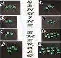 Emerald- Natural Emerald Loose Gemstone Cabochons, Emerald Cut, Faceted Gemstones