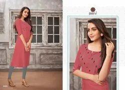 Baanvi Parina Vol 2 Cotton Slub Casual Wear Fancy Kurti Collection