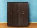 Brown Wooden 4 Door Wardrobe