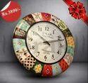 Multicolor Fiber Wall Clocks, Size: 10 Inches
