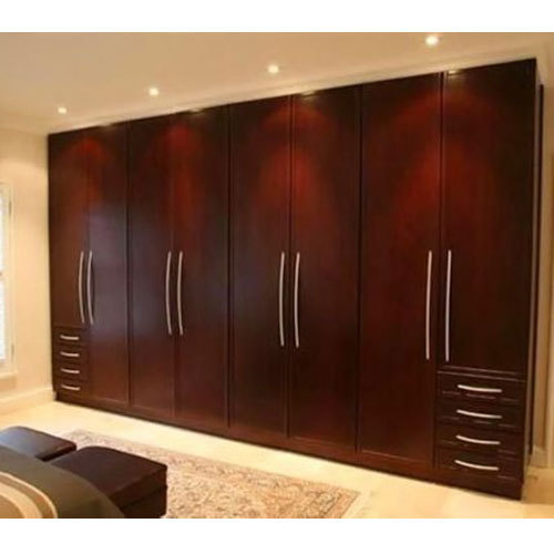 Modern Solid Wood Stylish Modular Wardrobe, Rs 1050