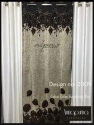 Printed Designer Jute Door Curtain