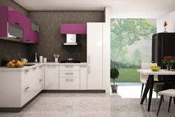Residential Acrylic Modular Kitchen, Warranty: 10-15 Years