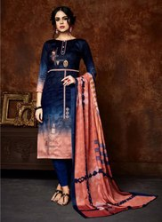 Jam Silk Digital Printed Churidar Suits