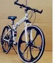 BMW White Six Spoke Foldable Cycle