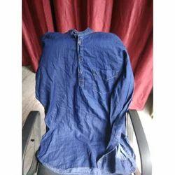 Casual Plain Fancy Denim Mens Shirt