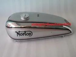New Norton Model 18 Chrome And Silver Painted Petrol Tank 1930''''s (Reproduction)  With Fuel Cap