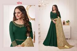 Semi-Stitched Embroidered Vipul Georgette Suit