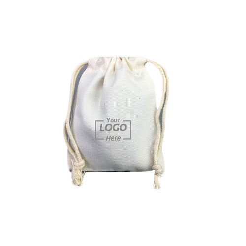 Off White Printed 9x12cm Cotton Drawstring Bag 2745184cd2ea