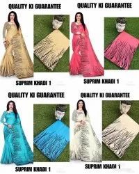 Supreme khadi silk saree