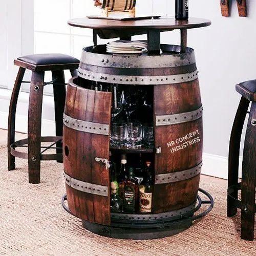 Whiskey Barrel Pub Table Height 3 5 Feet Rs 41000