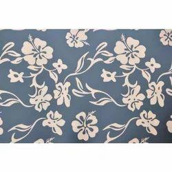 Blue Floral Interior Design Aluminium Composite Panel