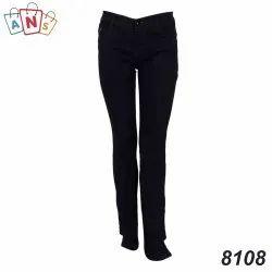 Slim Ultra Low Rise Ladies Black Stretchable Jeans