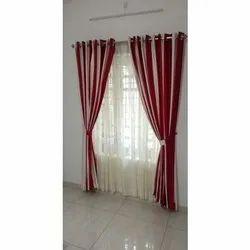 Plain Cotton Window Curtain, Size: 7 To 8 Feet (height)