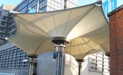 Steel And PVC Inverted Conical Tensile Fabric Structure