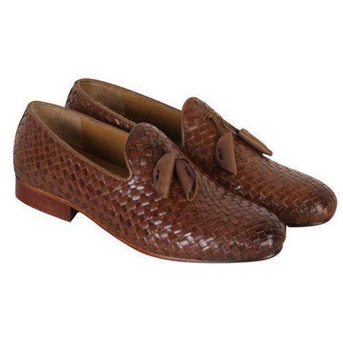 be5c3269d5e Brown Woven Mens Tassel Slip On Shoes