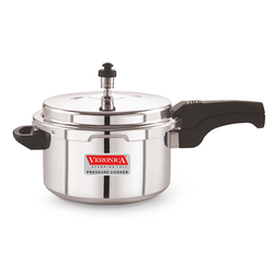 Outer Lid Silver Veronica Pressure Cooker 5 Ltr, For Home
