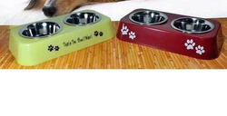Double Diner Bowl For Dog Feeders
