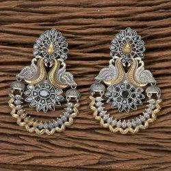 Indo Western Chand Earring with 2 Tone Plating 100564