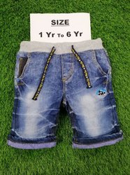 1 To 6 Year Kids Denim Short