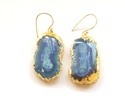 Blue Solar Quartz Earrings