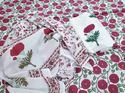 Red Flower Printed Suit Material