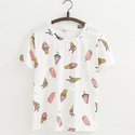 Cotton Casual Wear Ladies Half Sleeves Printed T-shirts