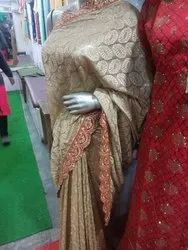 Party Wear Printed Saree, 5.5 m (separate blouse piece), Machine Made