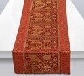 Red Brocade Elephant Table Runner