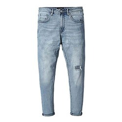 Light Blue Denim Mens Rugged Jeans