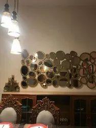 Golden Rectangular Designer Mirror for Hotel