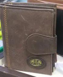 Male Bi Fold Swiss Military Brown Wallet