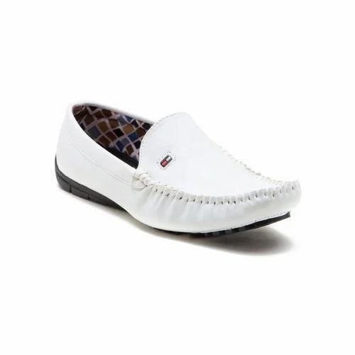 white lofer shoes