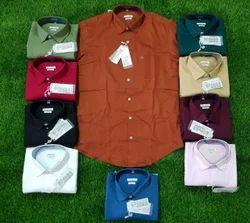 Collar Neck Casual Wear Plain Branded Formal Men''''S Shirts
