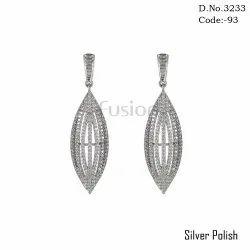 Fusion American Diamond Chandelier Earrings