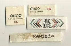 Multi colour Cotton Printed Labels