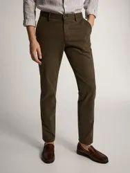Dark Brown Cotton Mix Pants