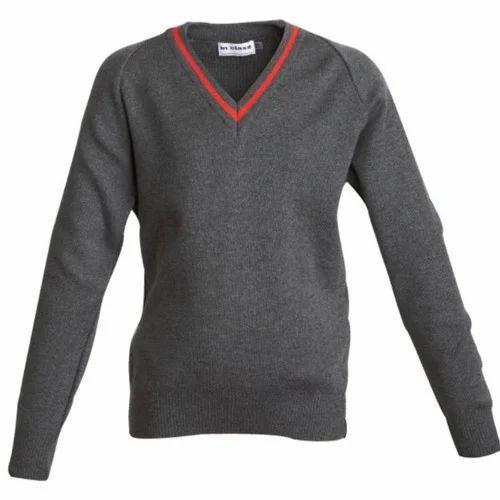 2b05f56a7d0 RG Oswal Grey Girls School Sweater