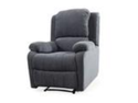 Stancy Manual Recliner In Grey Fabric