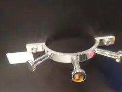 Brass Chrome Finish Triple Robe Hook, For Residential, Type of Hooks: Stainless Steel